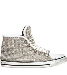 64eb65befb6e58 Dioniso Leather and Swarovski High Top Sneakers