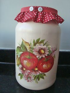 Recycle, reuse, handmade Diy Resin Crafts, Jar Crafts, Bottle Crafts, Diy And Crafts, Decoupage Vintage, Decoupage Jars, Mason Jar Gifts, Mason Jar Diy, Bottle Painting