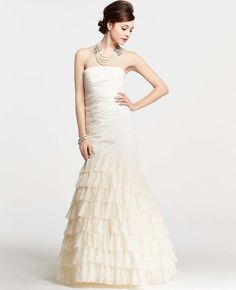 Petite Ostrich Feather Strapless Wedding Dress