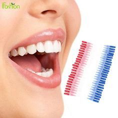 50PCS Tooth Flossing Head Soft Plastic Interdental Brush Oral Hygiene Dental Toothpick Tooth Pick Brush Teeth Cleaning