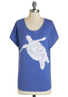 Every now and then, you fall in love all over again with this adorable - and awesomely environmentally conscious - graphic tee. Boasting an ornately illustrated turtle atop a heather-blue background, this ultra-soft knit shirt offers 20 percent of its proceeds to the African Wildlife Foundation, making it even more worthy of your affection!