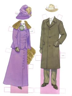 Woodrow Wilson and His Family Paper Dolls by Tom Tierney  - Dover Publications, Inc.,1991: Plate 3 (of 16)