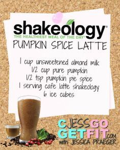 SHAKEOLOGY RECIPE PUMPKIN SPICE LATTE