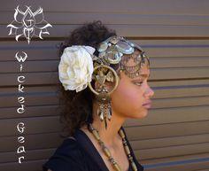 Coiffe de la danse du ventre, casque, pièce de tête, baladi morceau de cheveux, coiffure, bijoux de cheveux