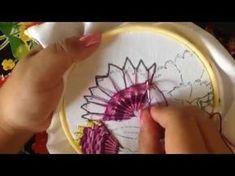 # 28 bordado fantasía para clavel con cony rico - YouTube