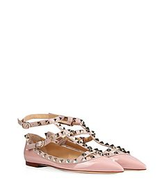 Inject a covetable edge into every outfit with Valentino's candy colored flats, a sweet iteration of this iconic style #Stylebop
