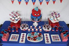 Spiderman Birthday Party dessert table favors spiders #spiderman #amazingspiderman #spidermanbirthday #desserttable