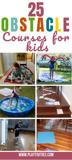 25 Easiest Low Prep Obstacle Courses for Kids Indoor-Spaß Indoor Activities For Kids, Learning Activities, Preschool Activities, Games For Kids, Course À Obstacles, Amusement Enfants, Kids Obstacle Course, Jouer, Summer Kids