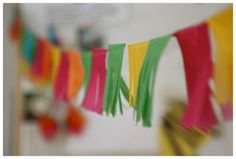 Colourful paper garlands/bunting