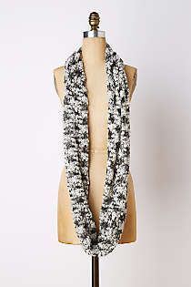 "Anthropologie scarf. 64"" × 18""."