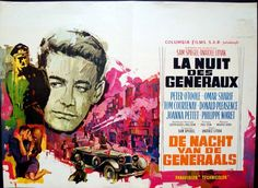 The Night Of The Generals Belgian movie poster. Art by Ray (Raymond Elseviers). Tom Courtenay, Cinema Posters, Movie Posters, Donald Pleasence, Peter O'toole, Vintage Advertisements, Film, Gallery, Illustration