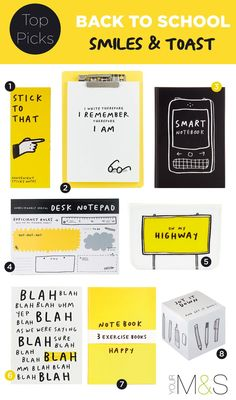 Add a bit of comedy to your daily routine with our practical, but ever so witty Smiles & Toast range of stationery. Coperate Design, Book Design, Layout Design, Creative Design, Design Ideas, Layout Inspiration, Graphic Design Inspiration, Typography Design, Lettering