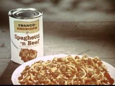 "Franco-American Spaghetti commercial  This commercial was first seen around 1965, before ""SpaghettiO's"" were introduced. Campbell Soup Company marketed Franco-American spaghetti beginning in the '30s, expanding the brand over the years to include canned gravies as well. About a decade ago, they phased out the Franco-American brand, and now produce those products under their own name. Gordon Jump is ""Mr. Jones""; William Schallert is the announcer."