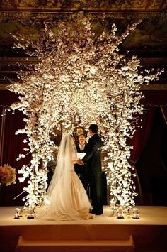 Stunning Floral Decor on Chuppah