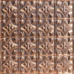 Princess Victoria - Solid Copper Ceiling Tile - 2 ft x - Copper Tile Backsplash, Copper Ceiling Tiles, Beadboard Backsplash, Herringbone Backsplash, Backsplash Ideas, Kitchen Backsplash, Backsplash Panels, Hexagon Backsplash, Kitchen Cabinets