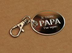 Cadeau personnalisé pour la fête des pères Porte-clé Charm je t'aime papa