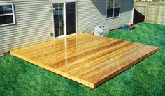 Our future patio deck that we would like in red cedar to match the new fence!