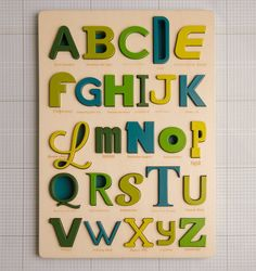 Font Alphabet Puzzle by looodus on Etsy