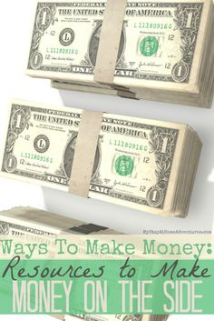 Ways To Make Money Resources to Make Money On The Side - Finding Ways To Make Money on the side is possible. You will find resources to help get started on your way to earning extra money on the side.