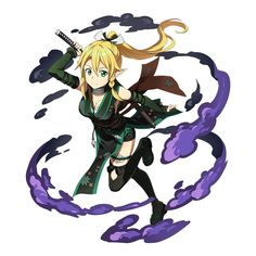 posts about games, funny stuff, and a lot of anime; Manga Pictures, Art Pictures, Art Images, Random Pictures, Character Poses, Game Character, Character Design, Leafa Sao, Kirito