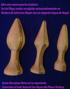 Plugs Anales de Lujo Wooden Reyesdelplacer@outlook.com