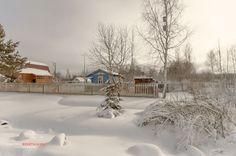 Деревенский зимний пейзаж.(4)