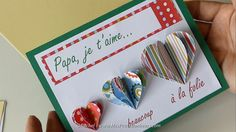 Fête des Pères : Carte cœurs accordéons à imprimer