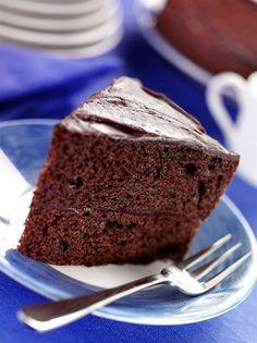 Cuketová čokoládová buchta s polevou