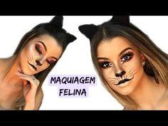 Maquiagem de gatinha para festa a fantasia por Nathalia Andrade - YouTube