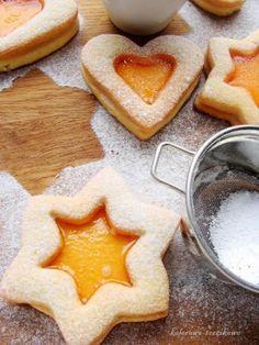 Zdjęcie: Pomarańczowe ciasteczka z galaretką Christmas Ornament Wreath, Christmas Door Decorations, Christmas Tree Toppers, Pumpkin Cheesecake, Donuts, Cookie Recipes, Food To Make, Waffles, Food And Drink