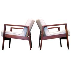 Pair George Nelson Walnut Lounge Chairs For Herman Miller Signed | From a unique collection of antique and modern lounge chairs at http://www.1stdibs.com/furniture/seating/lounge-chairs/