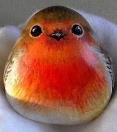 garten steine Is it a bird or a mango - Ste . - Is it a bird or a mango stones - Painted Rock Animals, Painted Rocks Craft, Hand Painted Rocks, Pebble Painting, Pebble Art, Stone Painting, Pebble Stone, Painting Art, Body Painting