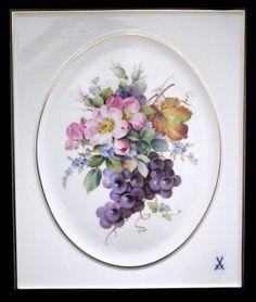 Porcelain Artist, Style Porcelain, Fine Porcelain, Porcelain Painting, Painted Porcelain, Hand Painted, Porcelain Grapes, Meissen Porcelain, Porcelain ...