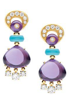 Image detail for -fall 2011 bulgari category bulgari jewelry earrings purple metallic ...