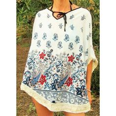 Moda Online, Floral Tops, Women, Fashion, Shopping, Going Out Clothes, Ponchos, Summer Time, Moda