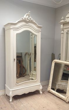Beautiful Simple Elegant Antique French Rococo Armoire Just Finished Furniture
