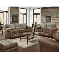 The American Furniture Classics Deer Teal Lodge 4 Piece Sofa Set is a one-step way to transform your living room into a relaxed lodge-style getaway. Chair And Ottoman, Living Room Sets, Living Room Collections, Furniture, Room Set, 4 Piece Living Room Set, Coastal Living Rooms, Sofa Set, American Furniture