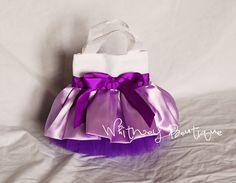 Tote púrpura y blanco Mini Tutu por WhitneyBoutique en Etsy