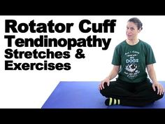 The single knee to chest is a great way to help stretch out and relieve tension in your lower back hamstrings and glutes. Watch more Ask Doctor Jo videos f. Shoulder Tendonitis Exercises, Rotator Cuff Stretches, Shoulder Pain Exercises, Shoulder Injuries, Shoulder Workout, Neck Stretches, Shoulder Rehab, Sore Shoulder, Shoulder Pain Relief