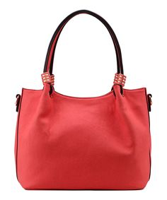 Coral Crosshatch Shoulder Bag