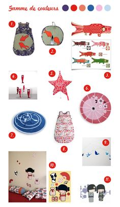 Sélection accessoires décoration chambre bébé thème japon