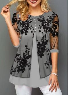Product search/lace_Women Fashion Clothes, Sexy Women Clothes,Women Shoes Online Source by waterboysgirl fashion tops Trendy Tops For Women, Blouse Designs, Dress Designs, Fashion Models, Fashion Hats, Fashion Watches, Fashion Trends, Ideias Fashion, Fashion Dresses