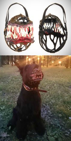 If you're afraid to walk your dog at night (and your dog is the kind that would rather lick the attacker than protect you) – this werewolf muzzle is for you! The Russian-designed dog muzzle sells for about 30 USD and permits your dog to slightly open its mouth, allowing it to pant. It is made from non-toxic plastic and nylon. #bootstrapcorner www.adiaccess.co.uk