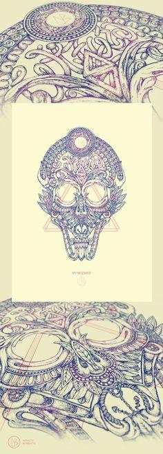 My WIZARD | Illustration by Novastic Bombastic, via Behance