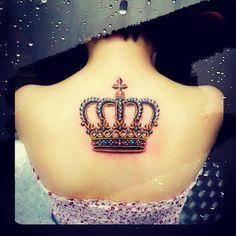 custom crown tattoo