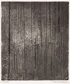 Sherbrooke Forest number 1 by Fred Williams Australian Painting, Australian Artists, Fred Williams, Etchings, Aboriginal Art, Gravure, Printmaking, Print Ideas, Fine Art