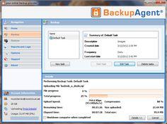 BackupAgent client on Windows.  Secure cloud backup agent. GoodSync와 비슷한 싱크백업 유틸. GoodSync에서는 네트워크 싱크가 안됐는데 이건 된다.