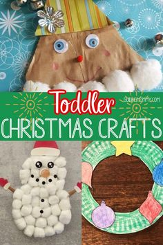Making Christmas memorable just got easier thanks to these fun toddler Christmas crafts. These fun crafts are an easy way to have keepsake memories of your toddler that will last a lifetime while making things merry and bright! #christmascrafts #toddlerchristmas Christmas Crafts For Toddlers, Toddler Christmas, Diy Christmas Ornaments, Home Crafts, Fun Crafts, Pinterest Christmas Crafts, Easy Art For Kids, Toddler Art, Simple Art