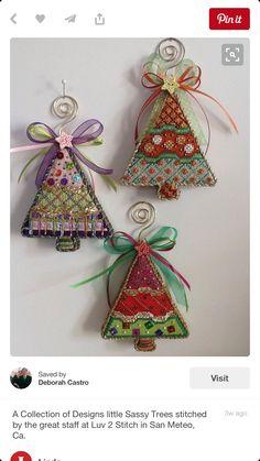 Christmas trees needlepoint, Burnett & Bradley canvases