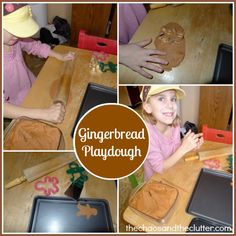 Gingerbread Playdough Station